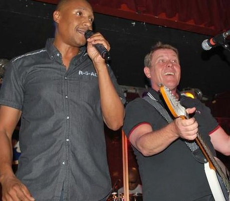 Antonee First Class (left), and Dave Wakeling of the English Beat