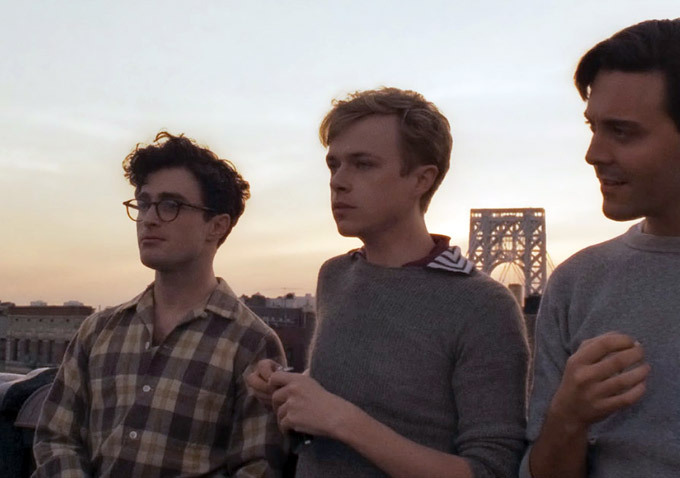Kill Your Darlings - From left: Daniel Radcliffe as Allan Ginsberg, Dane DeHann as Lucien Carr and ack Huston as Jack Kerouac.